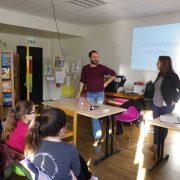 Maxime Menanteau et Aurélie Marc répondent aux questions des élèves