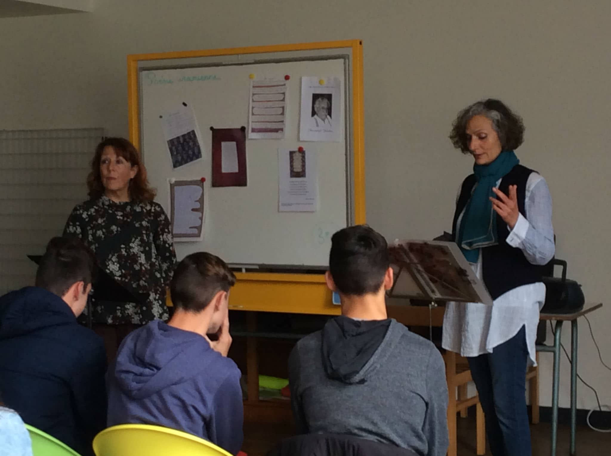 Les 3e découvrent la poésie persane de Manouchehr Palizban