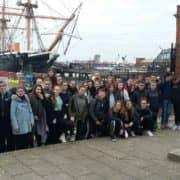 Arrivée des 3e à Portsmouth