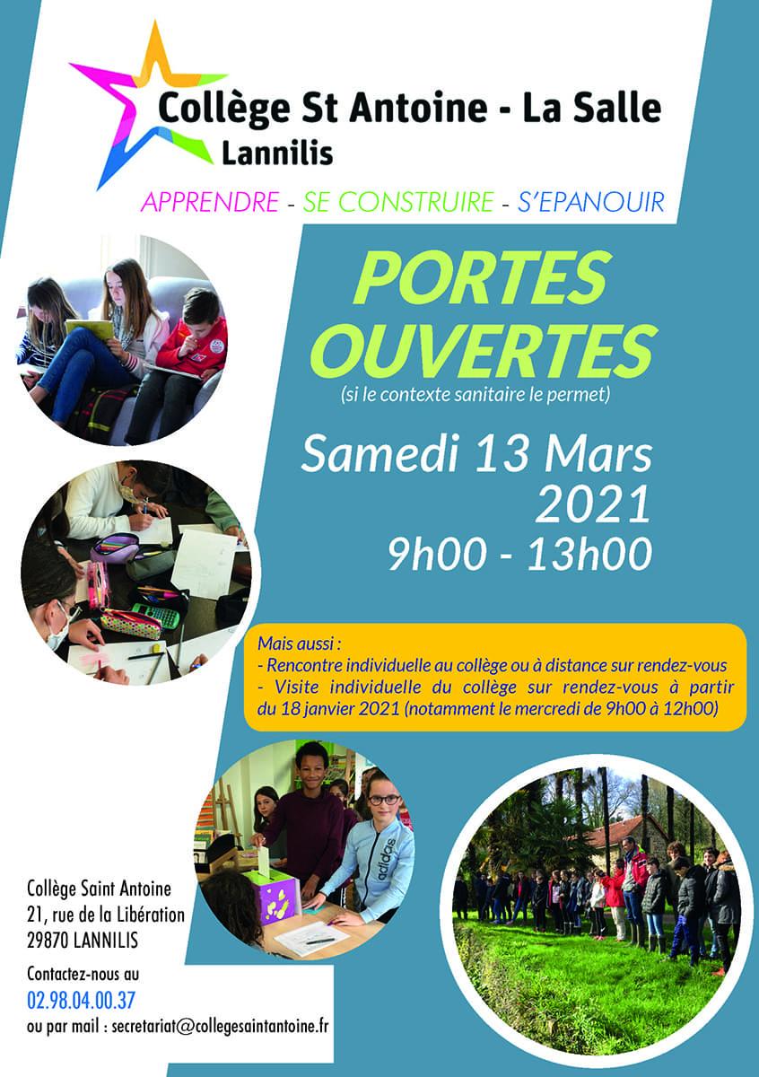 Portes Ouvertes College Saint Antoine 2021