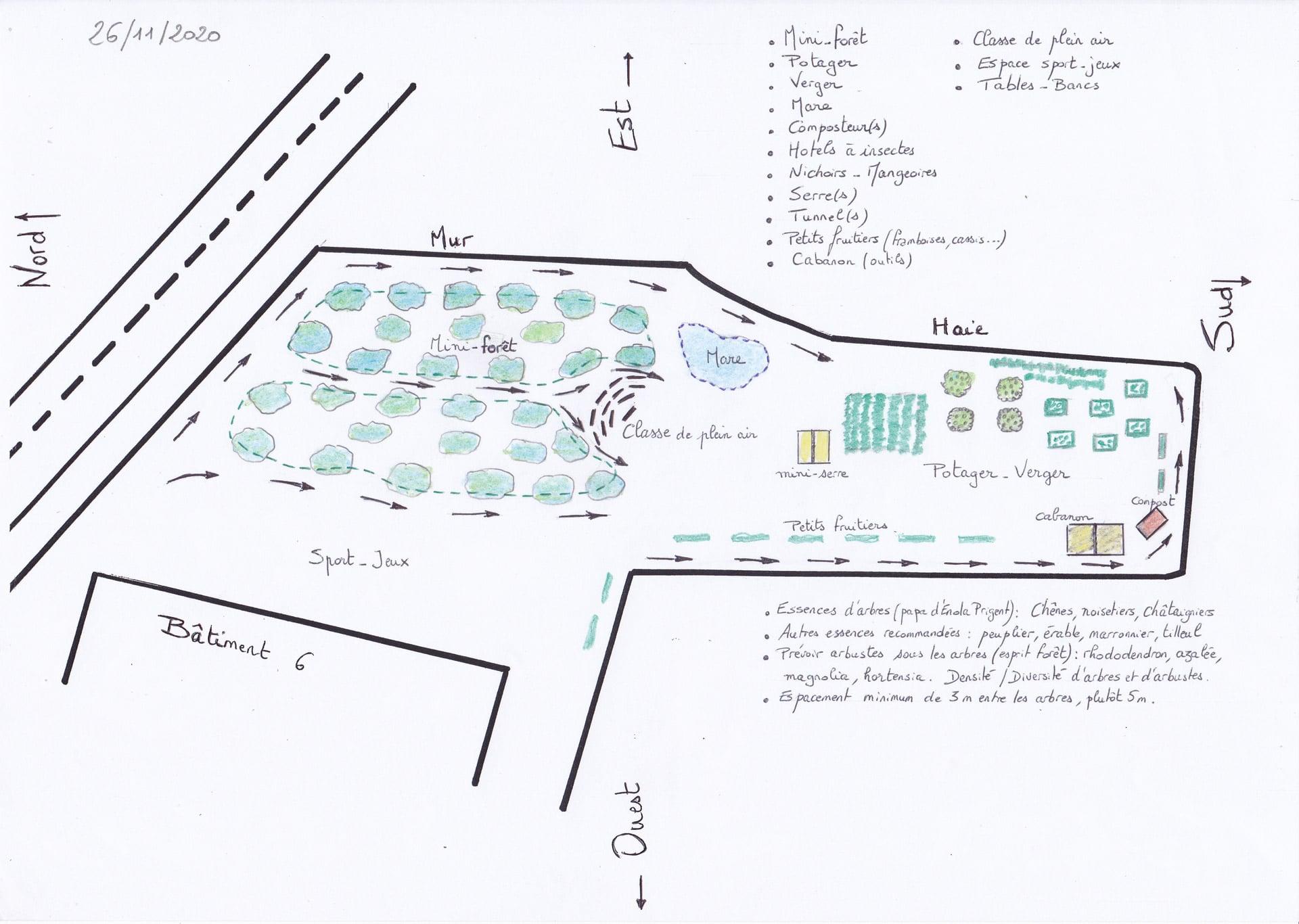 Le Jardin Du College Evolue Plan